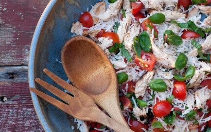 vistas salātu recepte ar rīsiem
