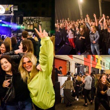 Foto: Ap 4000 jauniešu līksmo 'Ezīšfestā' Tallinas ielas kvartālā