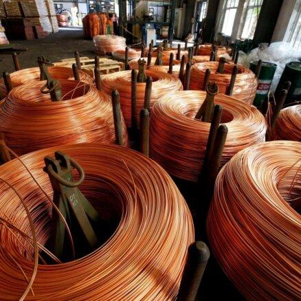 Pēc Ķīnas iestāžu brīdinājuma samazinājušās metālu cenas pasaulē