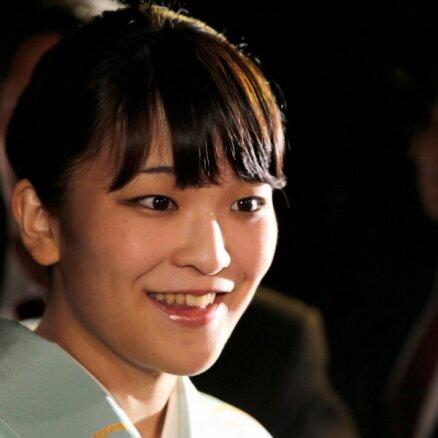 Japānas princese Mako mīlestības dēļ atsakās no karaliskā statusa