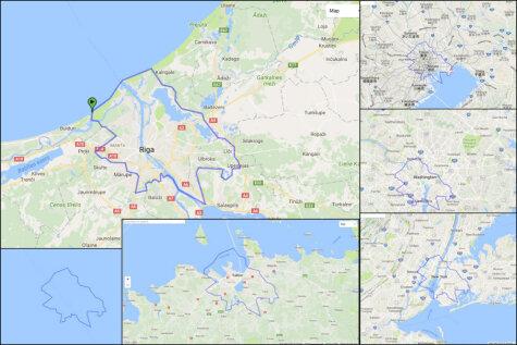 Смотри, как границы Риги НА САМОМ ДЕЛЕ соотносятся с мировыми столицами!