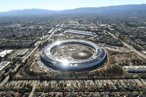 Бублик Apple, Facebook у болота и другие. Как Кремниевая долина выглядит с воздуха
