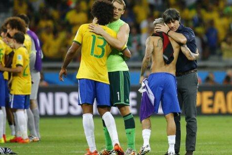Vācijas aizkustinošie apskāvieni brazīļiem