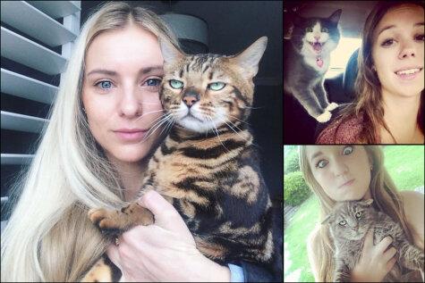 Насильно кот в селфи не будет. 14 смешных селфи с котами, на которых котам вовсе не смешно