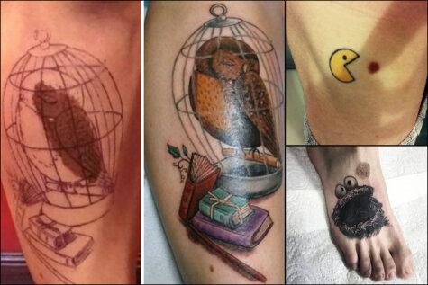 Девять гениальных татуировок, маскирующих