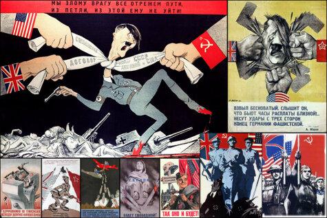 12 послевоенных плакатов, которые кричат: Вторую мировую СССР выиграл не один!