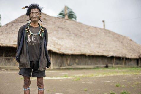 Foto: Ieskats ciematā, kur dzīvo no opija atkarīgie