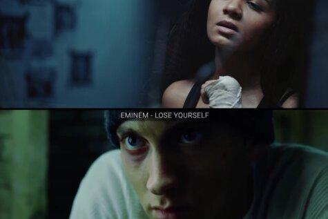 Aminatas video 'Fighter' ļoti atgādina Eminema un Kristīnas Agileras klipus