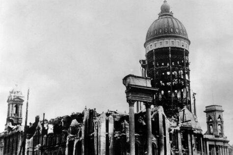 Arhīva foto: Sanfrancisko pēc smagākās zemestrīces pilsētas vēsturē