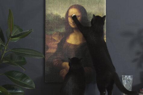 Ну, наконец-то ты подаришь котику картину, о которую можно поточить когти!