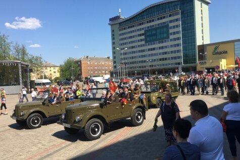 В Даугавпилсе в честь 9 мая прошел местный Парад Победы