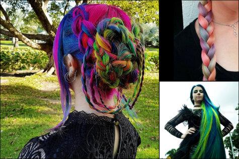 Эта девушка вырастила длинные разноцветные волосы, соблюдая только одно правило