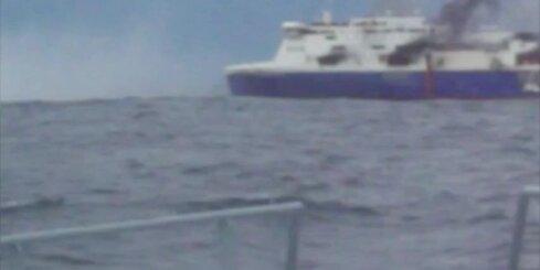 Prāmja ugunsgrēkā Adrijas jūrā gājuši bojā desmit cilvēki; 40 pazuduši bez vēsts