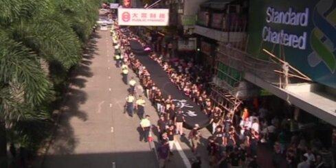 Vairāk nekā tūkstotis iedzīvotāju Honkongas ielās protestē pret Pekinas vēlēšanu ierobežojumiem