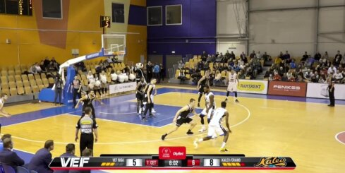 'OlyBet' basketbola līga: 'VEF Rīga' - 'Kalev/Cramo'. Spilgtākie momenti