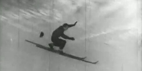 Arhīva video: Darbaļaužu ziemas prieki Mežaparkā, 1947. gads