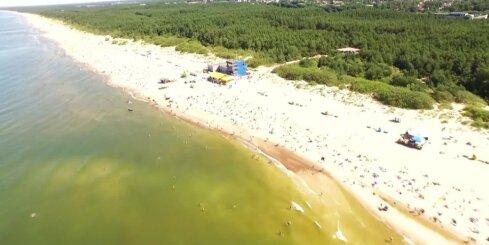 Palangas pludmale no putna lidojuma