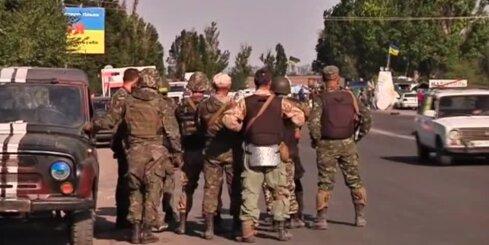 Ukrainas armijas kontrolpostenis pie Mariupoles