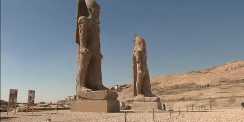 Ēģiptē atrastas divas senas statujas