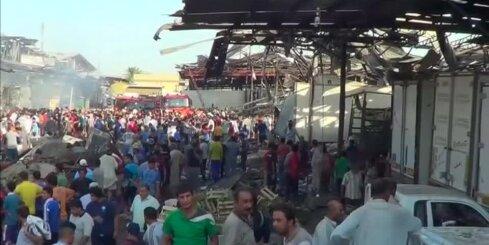 Bagdādē sprādzienā iet bojā vismaz vairāk nekā 60 cilvēku