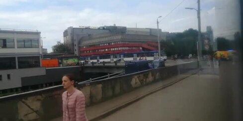 Tramvaju sastrēgums Prāgas ielā