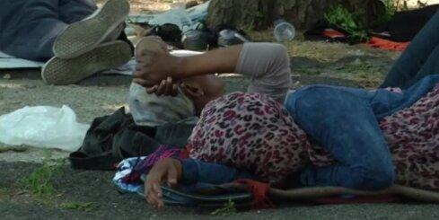 Uz Itālijas-Francijas robežas izveidojies imigrantu 'sastrēgums'