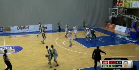 'Aldaris Latvijas Basketbola Līga' - 'Liepāja/Triobet' - 'BK Valmiera' -spēles ieraksts