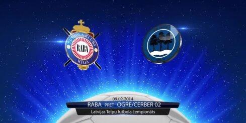 Telpu futbols: 'Raba' - 'Ogre/Cerber 02' vārtu guvumi