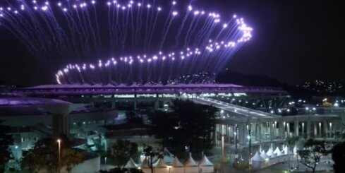 Rio olimpisko spēļu uguņošana - ģenerālmēģinājums