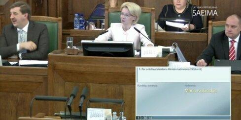 Saeima apstiprina Kučinska valdību