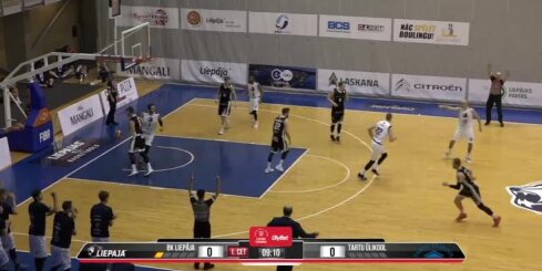 'OlyBet' basketbola līga: 'Liepāja' - 'Tartu Ulikool'. Spēles labākie momenti (15.12.2018.)