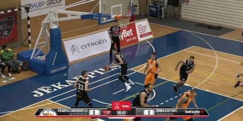 'OlyBet' basketbola līga: 'Jēkabpils/SMScredit.lv' - 'Betsafe/Jūrmala'. Spēles labākie momenti