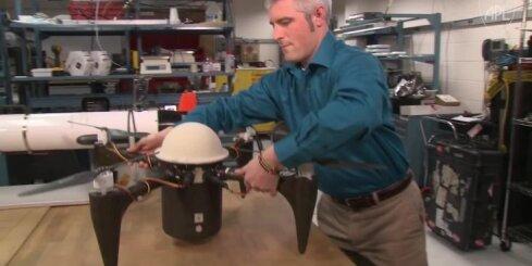Izgudrots lidojošs zemūdens drons