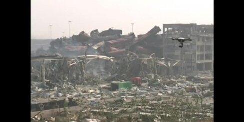 Ķīnā eksploziju vietā Tjaņdziņā turpinās cianīda attīrīšanas darbi