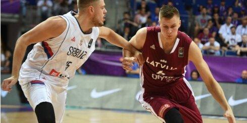 Video: Porziņģa trieciens grozā iekļūst 'Eurobasket 2017' dienas TOP 5