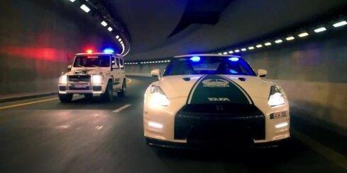 Dubaijas policijas lepnais autoparks