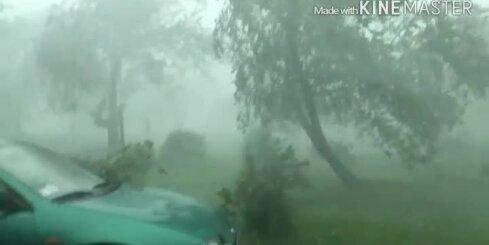 Negaiss plosās Gaujienā
