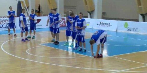 'Aldaris Latvijas Basketbola Līga' - 'BK Saldus' - 'BK Jelgava'
