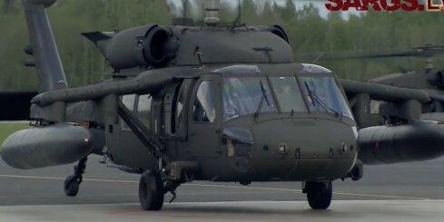 Lielvārdē ierodas ASV karavīri ar 'Black Hawk' helikopteriem
