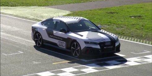 Bezpilota 'Audi RS7' traucas pa Hokenheimas trasi