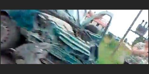 Avārija uz ceļa Jelgava - Tukums