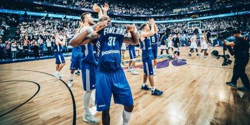 Video: Somijas basketbolisti ar neticamu uzvaru mājās uzsāk 'Eurobasket 2017'
