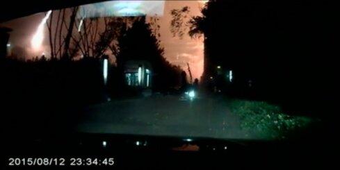 Kā no automašīnas izskatījās baisie sprādzieni Tjaņdziņā