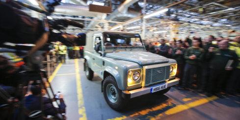'Land Rover' pātrauc 'Defender' ražošanu