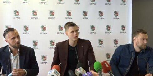 Kristapa Porziņģa preses konference Liepājā. Video ieraksts