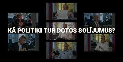 Video: Kā politiķi pilda Domburam intervijās solīto