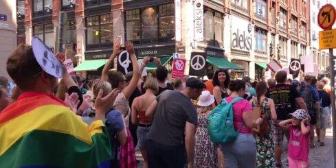 Protests pret Trampa vizīti Helsinkos