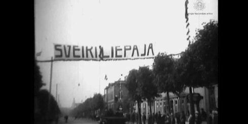 Arhīva video: Dokumentālā filma 'Liepājas 300 gadu pastāvēšanas jubilejas svinības', 1925.gads