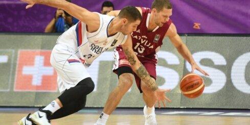 Video: Latvijas izlases centienus aptur Bogdanovičs un citi serbi