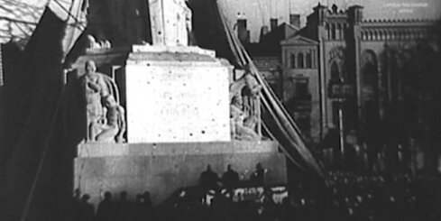 Arhīva video - Brīvības pieminekļa atklāšana, 1935. gads